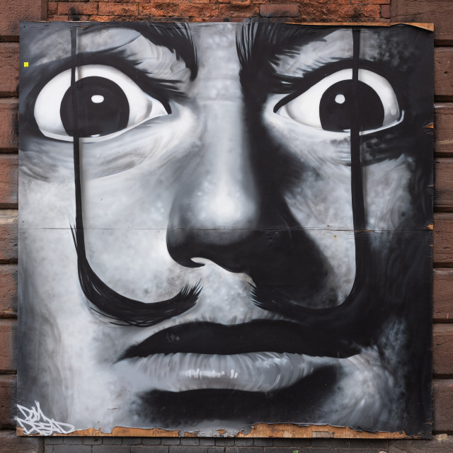"""My Manchester - Salvador Dali"" stock image"