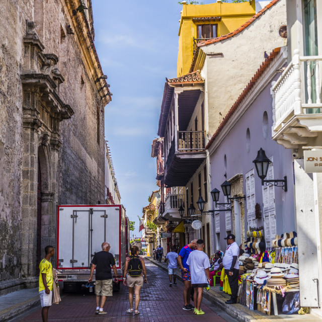 """""""Cartagena, Colombia, Old Town"""" stock image"""