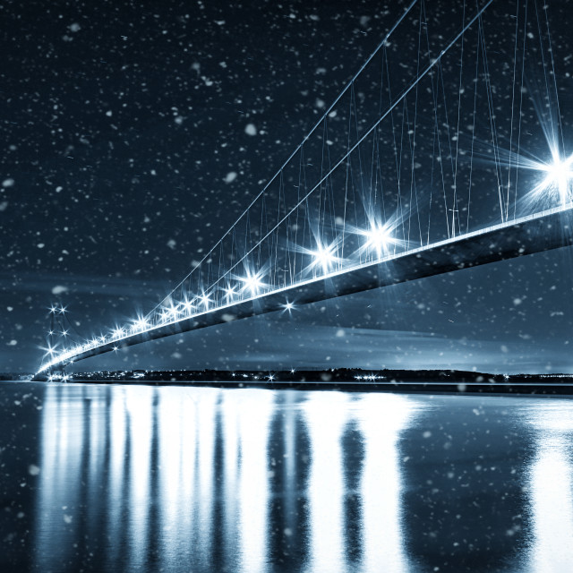 """Humber in the snow"" stock image"
