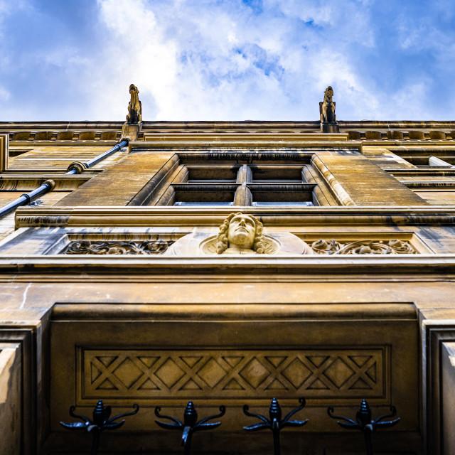 """Gargoyle's from Gonville & Caius College, University of Cambridge UK."" stock image"