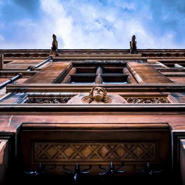 """""""Gargoyle's of Gonville & Caius College, University of Cambridge UK."""" stock image"""