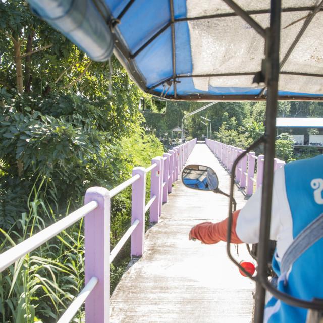 """THAILAND TAK TRANSPORT TUK TUK"" stock image"
