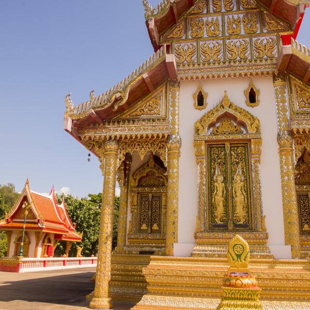 """THAILAND TAK WAT KLANG SUAN DOK MAI TEMPLE"" stock image"