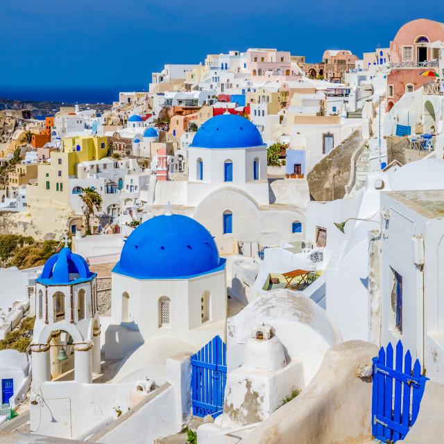 """Colorful Oia Santorini"" stock image"