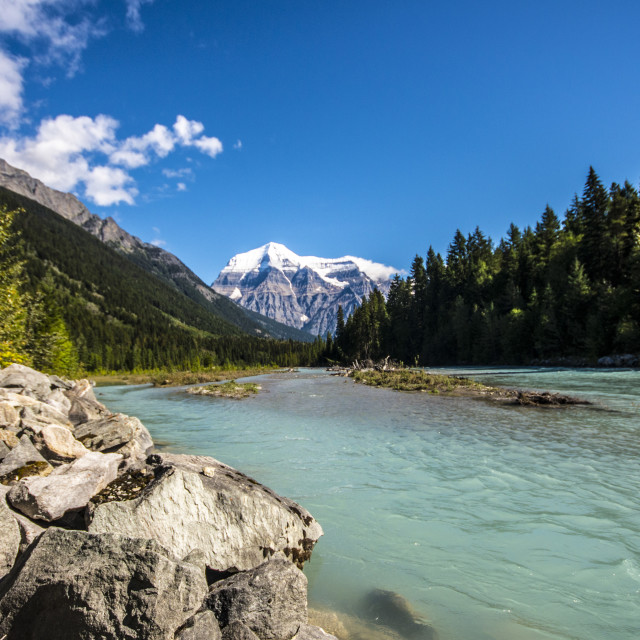 """Mount Robson"" stock image"