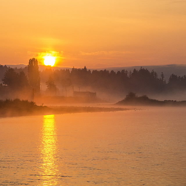 """Courtenay Airpark Sunrise"" stock image"