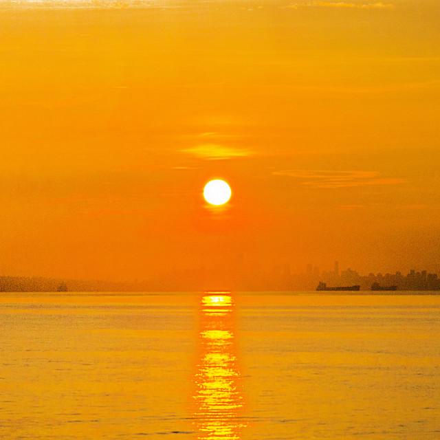 """Vancouver Sunrise"" stock image"
