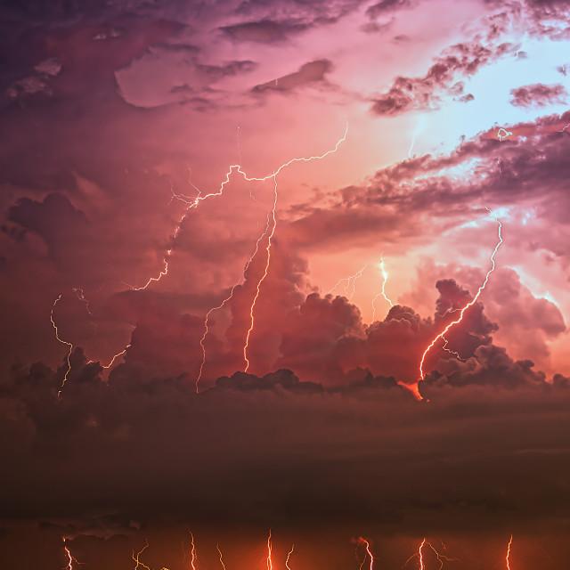 """Purple Lake"" stock image"