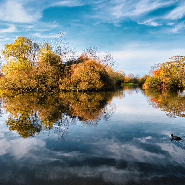 """East Park lake"" stock image"