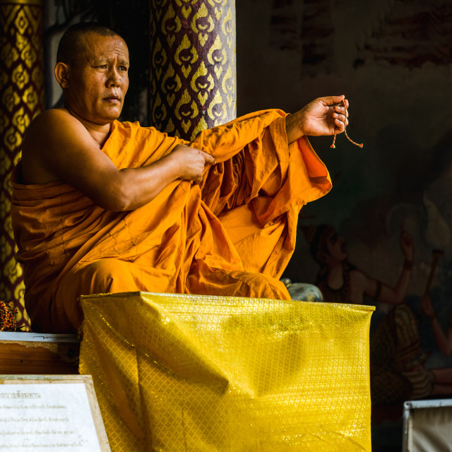 """""""Monk Blessing"""" stock image"""