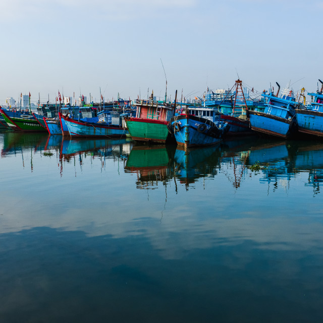 """""""Colourful Boats"""" stock image"""