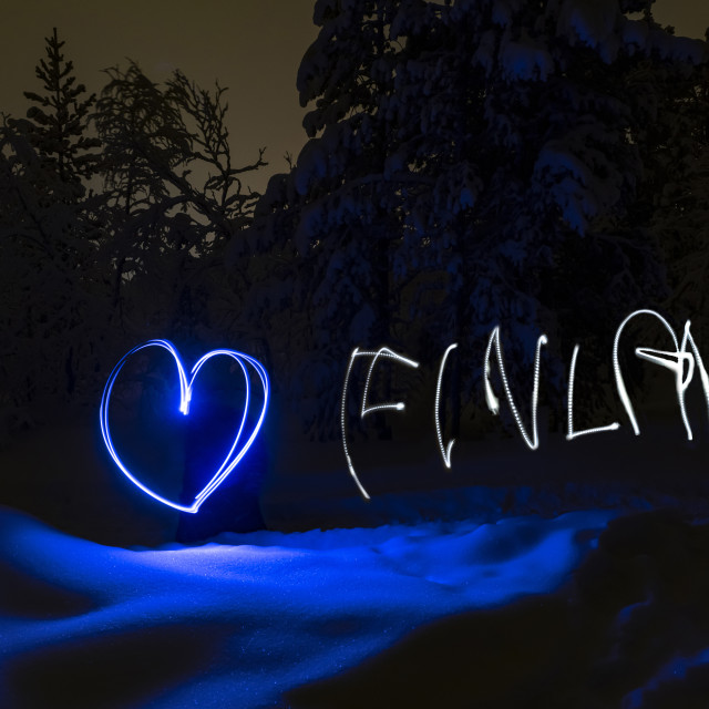 """We love Finland"" stock image"