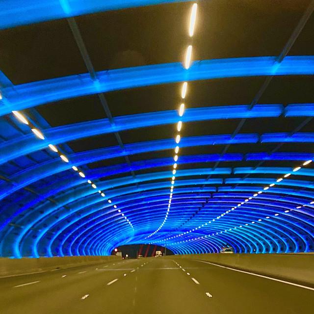 """Tunnel of light"" stock image"
