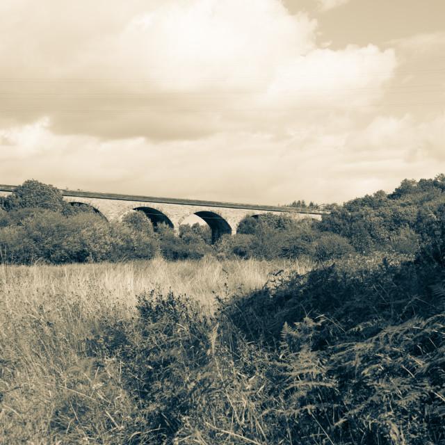 """Vintage Yarm Railway Bridge"" stock image"