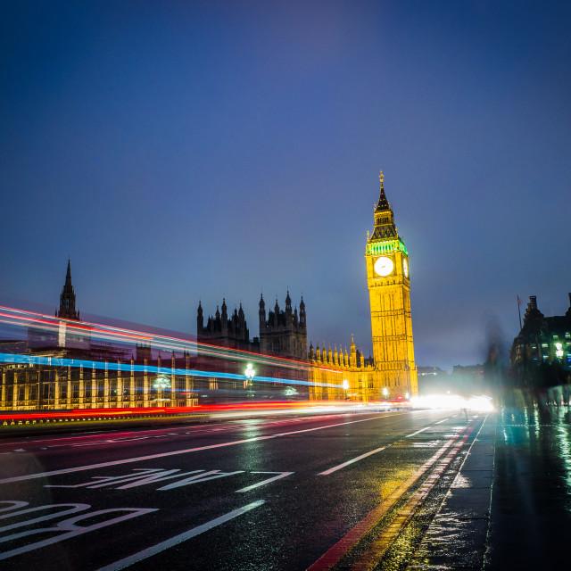 """Night time London"" stock image"