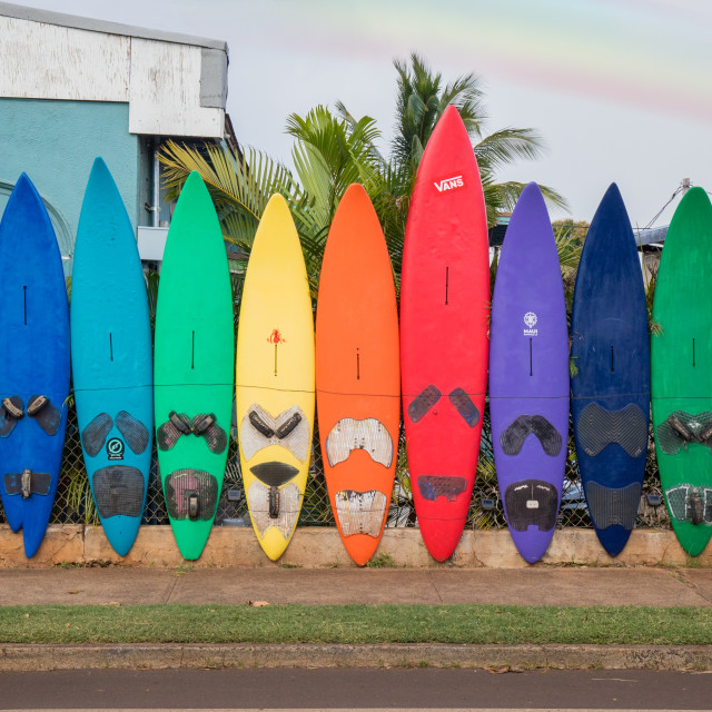 """Surf fence"" stock image"