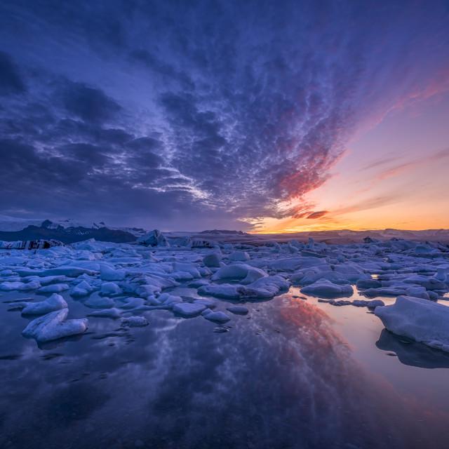 """""""Ice sunset"""" stock image"""