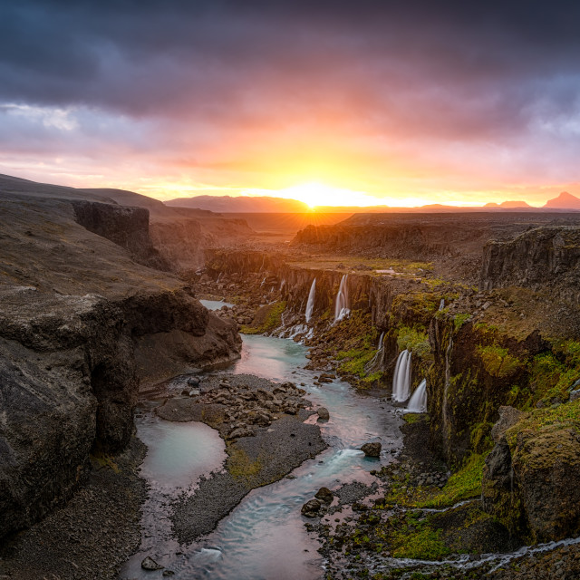 """Paradise in Iceland"" stock image"
