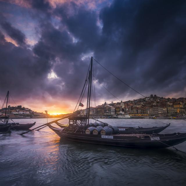 """Douro sunset"" stock image"