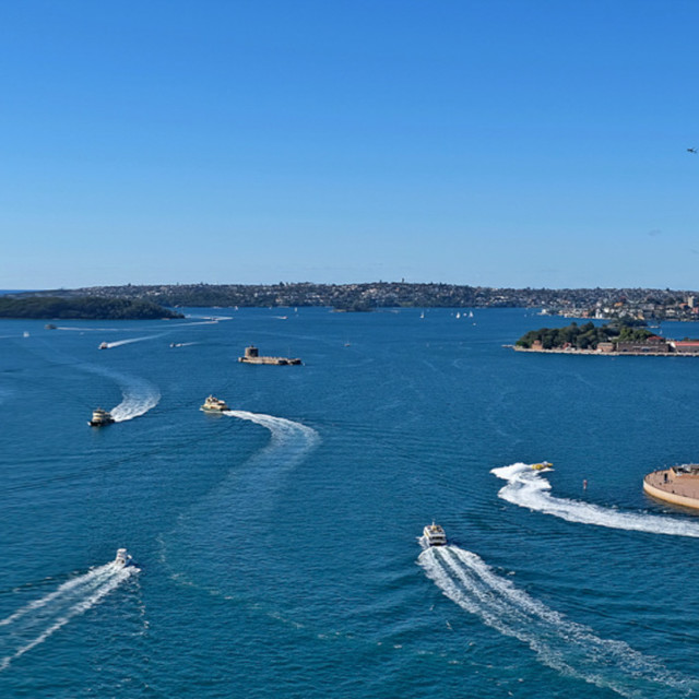 """Sydney, panoramic view"" stock image"