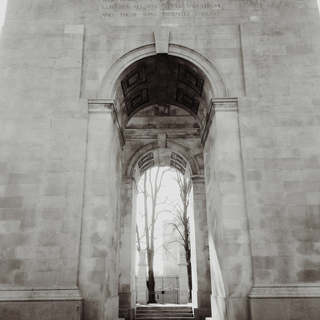 """Lutyens' Arch of Remembrance"" stock image"