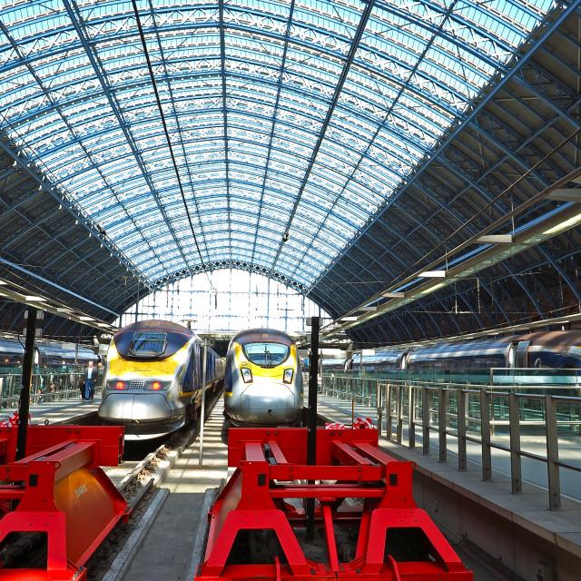 """St. Pancras Station"" stock image"