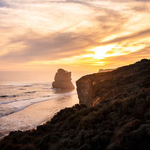 """""""Gibson Steps in the Sunset"""" stock image"""
