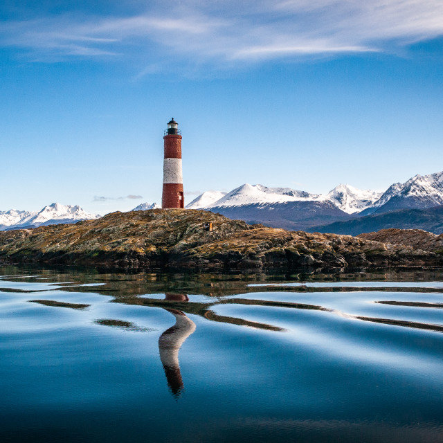 """""""The Lighthouse at the end of the world."""" stock image"""