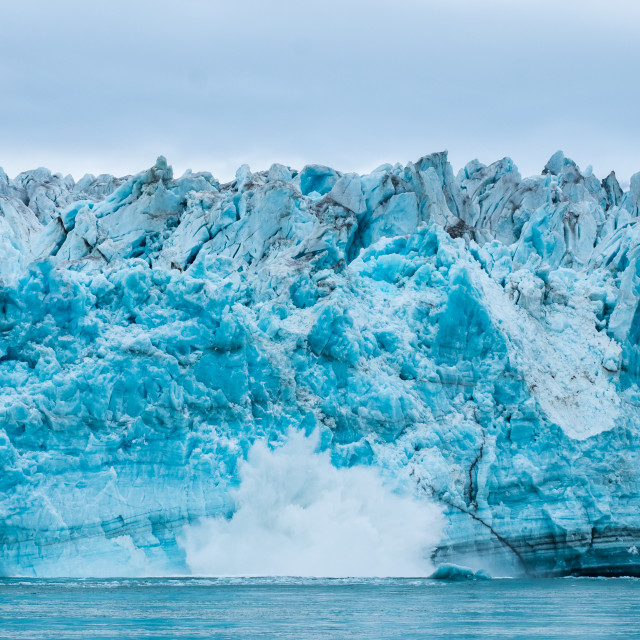 """Hubbard Glacier"" stock image"