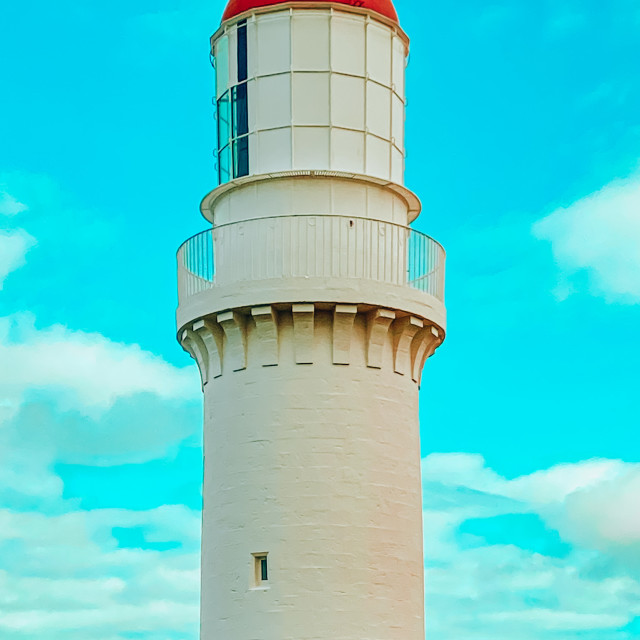 """Light House at Cape Schanck"" stock image"