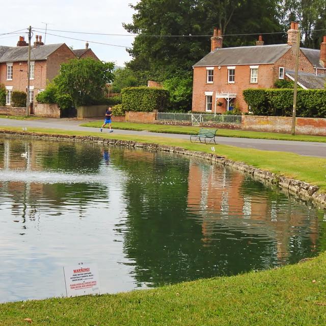 """The Village Pond."" stock image"