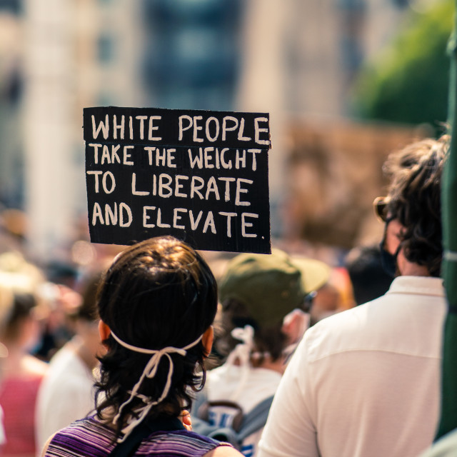 """""""White People Take the Weight"""" stock image"""