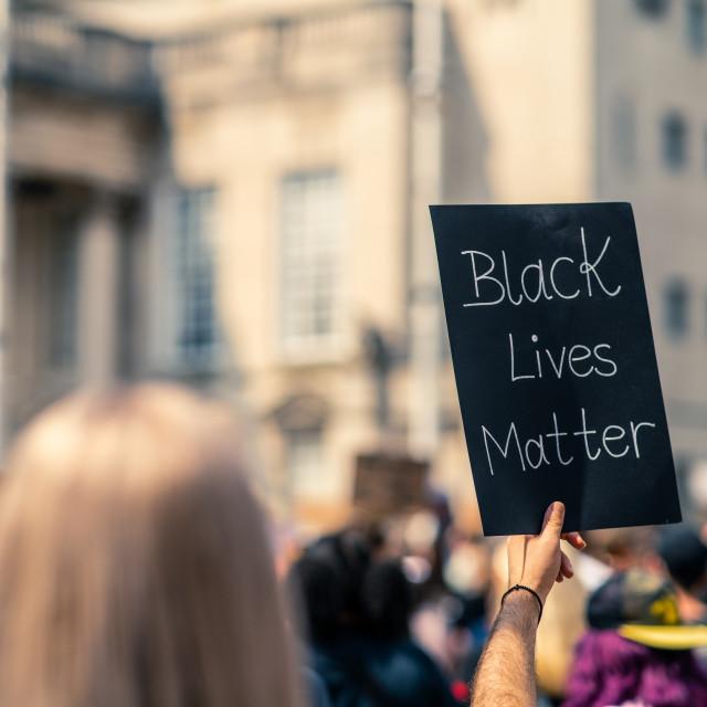 """Black Lives Matter"" stock image"