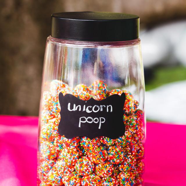 """Unicorn Poop"" stock image"