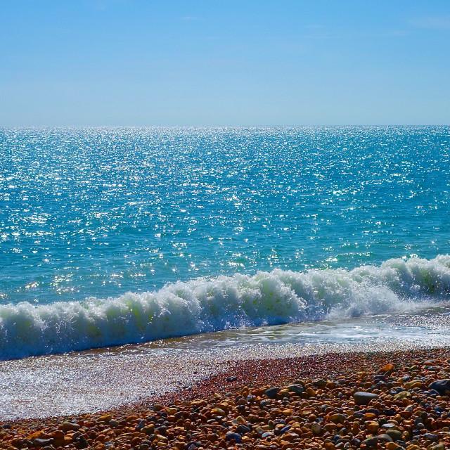 """Gentle Surf Seascape"" stock image"