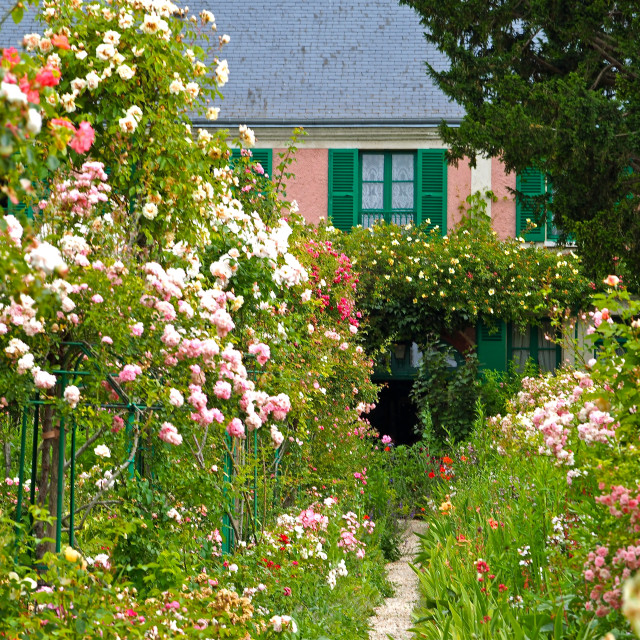 """""""Claude Monet's garden at Giverny"""" stock image"""