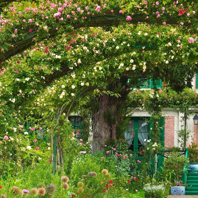 """Claude Monet's Garden"" stock image"