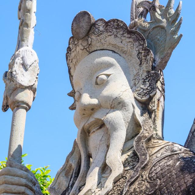 """Guardian statue in Wat Pho"" stock image"