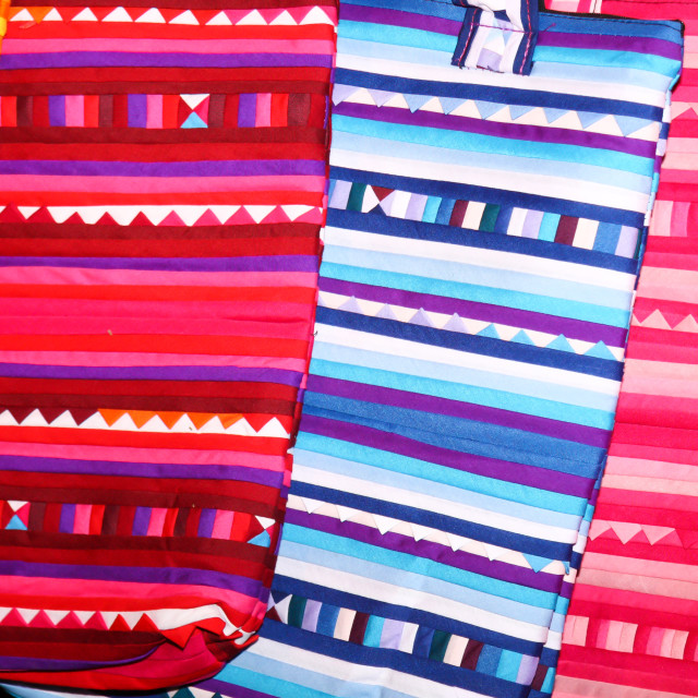 """""""Thai hilltribe colouful bags"""" stock image"""
