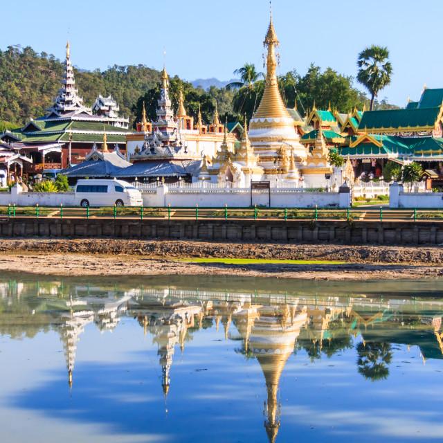 """Wat Chong Kham in Mae Hong Son"" stock image"
