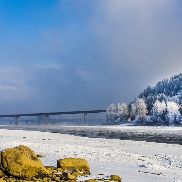 """""""Fraser River Landscape"""" stock image"""