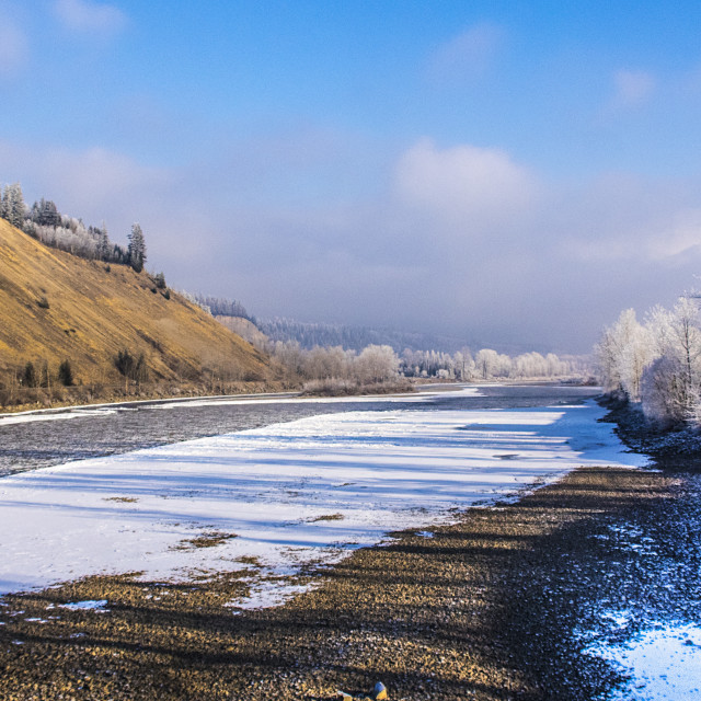 """Winter On The Nechako"" stock image"