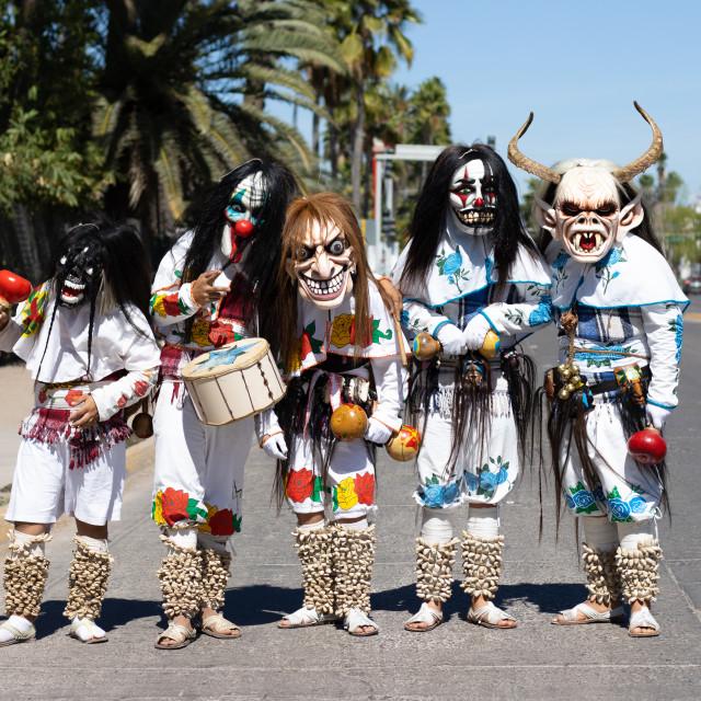 """Dancers in Carnival parade in Mexico"" stock image"