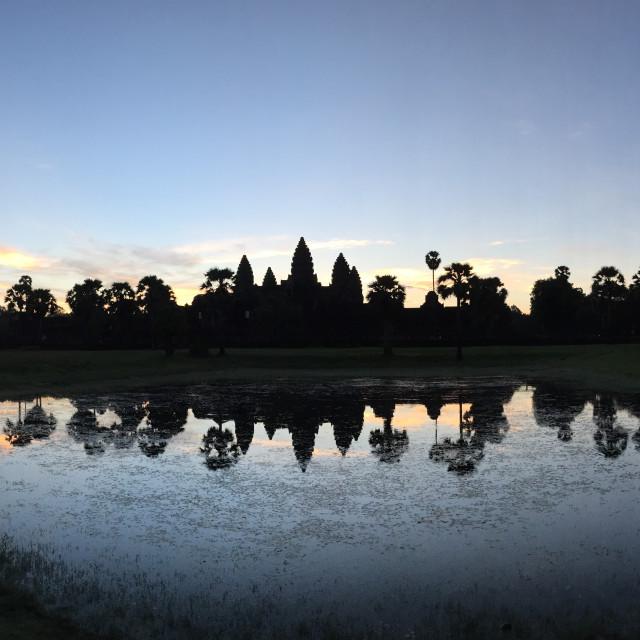 """""""Angkor Wat at Sunrise"""" stock image"""
