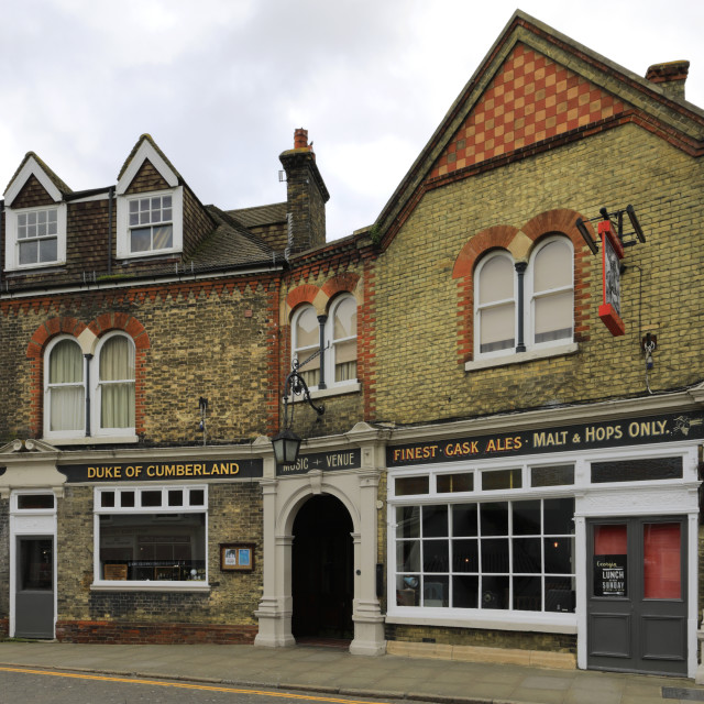 """The Duke of Cumberland pub, Whitstable town, Kent County; England; UK"" stock image"