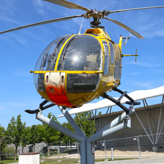 """MUNICH, ADAC rescue helicopter"" stock image"