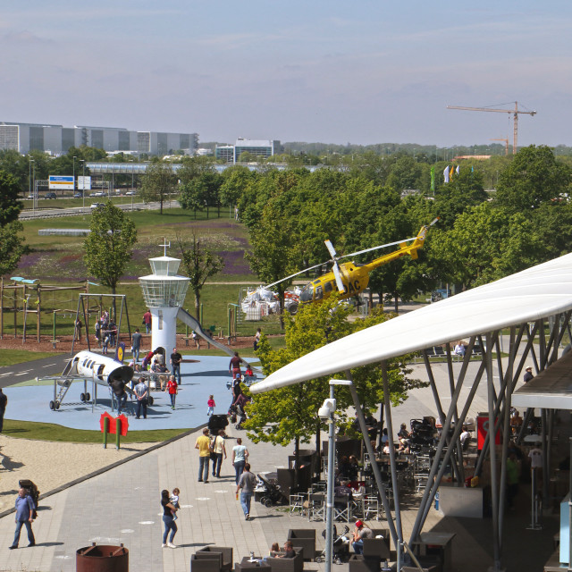 """Munich Airport visitor park playground"" stock image"