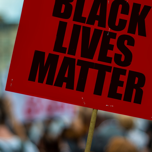 """Black Lives Matter Protest"" stock image"