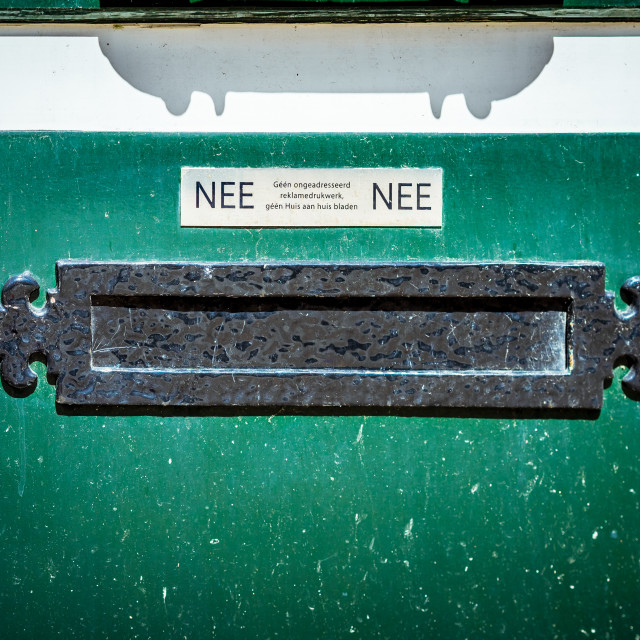"""Old horizontal metal letterbox"" stock image"