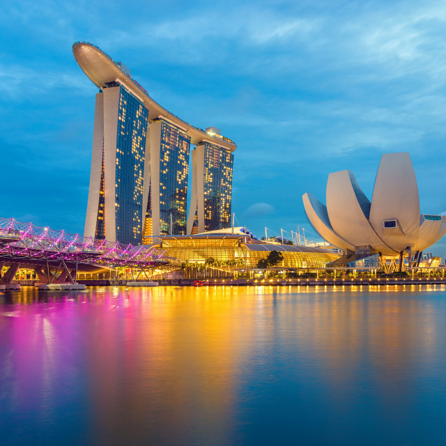 """Singapore View Of Marina Bay sands."" stock image"